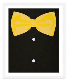 Rankin Willard, Bow Tie was the perfect graphic pop for Coco's nursery wall.
