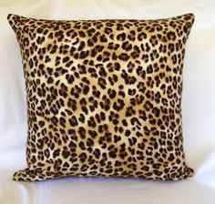 Small scale leopard animal print on a cotton duck fabric. Price is for One pillow case. Pillow case/cushion cover only/Pillow insert is not included. Throw Pillow Cases, Decorative Throw Pillows, Pillow Covers, Decor Pillows, Lumbar Pillow, Animal Print Decor, African Interior, Leopard Animal, Home Decor Fabric