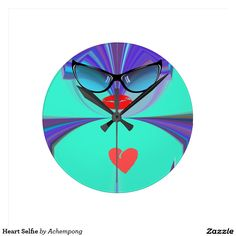 #Heart #Selfie #Round Clock #Hakuna #Matata #Clock #funny #penguin #saying, #steal #my #sanity, #with #quote #Cute #Quotes #Clocks