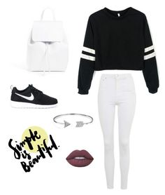 """Untitled #8"" by ejn2005 on Polyvore featuring Topshop, NIKE, Mansur Gavriel, Bling Jewelry and Lime Crime"