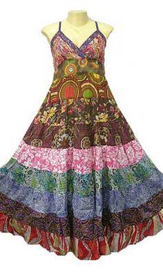 Holy 70's Bohemian sun dress Hippie Dresses, Hippie Outfits, Boho Dress, Bohemian Style, Boho Chic, Hippie Chic, Scarf Styles, Dress Styles, Boho Fashion