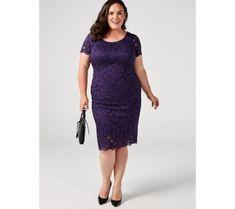Ronni Nicole Lace Midi Dress - 179357 Qvc Uk, Ronni Nicole, Just Shop, Lace Midi Dress, Fashion Dresses, Feminine, Dresses For Work, Sleeves, Shopping