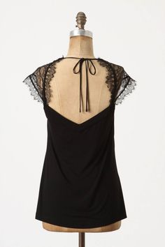 $78.00 Fringed Lace Top, Anthropologie. So delicate!
