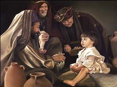 Wise Men still seek Him! This shows the Biblical visitation, not in the Nativity