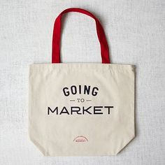 Market Tote Bag -  Going to Market #WestElm