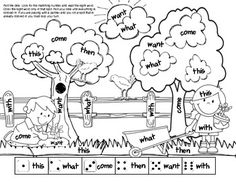 3,2,1 Spring Time Fun 4 fun worksheets for skill review. Great for morning work, centers or homework! 1 write the room activity, 1 cut and paste worksheet that reviews word families, 1 cut and paste worksheet that review teen numbers in number order and 1 cooperative partner activity for sight words.