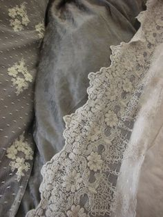 Grey with some lace for softness...