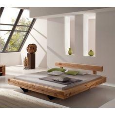Balkenbett rustikal  Details zu Bett Doppelbett Balken Bett Kiefer Fichte massiv ...