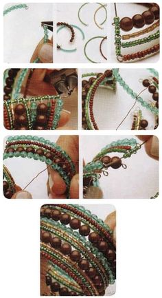 Step by step to make this bracelet memory wire