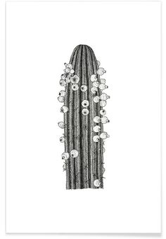 Big Cactus en Affiche premium par Pen & Ink   JUNIQE