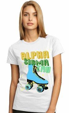 Alpha Sigma Tau - retro skate tee