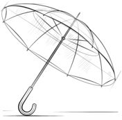 How to draw an umbrella Drawing tutorial