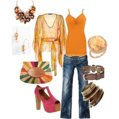 Neon Casual, created by heatherhobbie on Polyvore