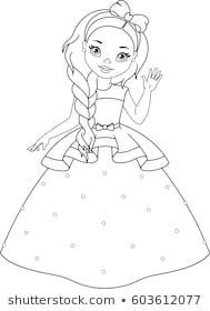 Little Princess Coloring Page Princezny