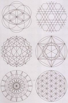 Various core shapes and patterns derived from Sacred Geometry. Includes the Flower of Life!