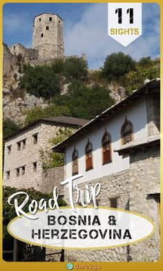 Take our road trip through Bosnia and Herzegovina to inspire your own itinerary. In just over 1 week we visited 11 interesting sights of this Balkan country. Europe Travel Guide, Backpacking Europe, Travel Guides, European Destination, European Travel, Malta, Roadtrip Europa, Monaco, Places To Travel