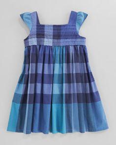 Z0VPZ Burberry Voile Check Dress