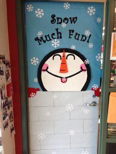 decoracion puerta invierno
