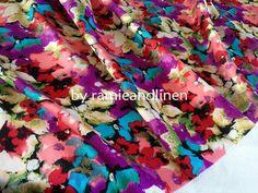 Seide Stoff floral print Seide-Baumwoll-Mischung von ramieandlinen