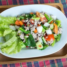 Tortillas aren't the only depository for beans, corn and tomatoes. With a Mexican Chopped Salad, let romaine lettuce do the job. Feta cheese supplies a dose of calcium and major flavor. Mexican Chopped Salad, Honey Lime Dressing, Cooking Recipes, Healthy Recipes, Salad Ingredients, Mexican Food Recipes, Salad Recipes, Veggies, Healthy Eating