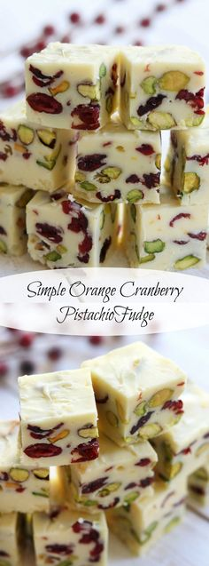 Mildly sweet, beautifully festive, and bursting with the fresh flavor of citrus. Simple Orange Cranberry Fudge is a wonderful addition to your Holiday table. http://www.thefedupfoodie.com
