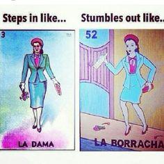 ༻⚜༺ ❤️ ༻⚜༺ #MexicanHumor | Steps In Like...'La Dama' | Stumbles Out Like... 'La Borracha' ༻⚜༺ ❤️ ༻⚜༺