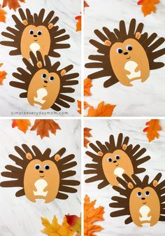 This handprint hedgehog makes the perfect fall craft for kids. It comes with a free printable template so its easy to recreate at home or in the classroom. Autumn Activities For Kids, Fall Crafts For Kids, Art For Kids, Fun Activities, Kids Crafts, Daycare Crafts, Toddler Crafts, Printable Crafts, Free Printable