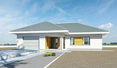 Projekt domu Parterowy 118,23 m2 - koszt budowy 184 tys. zł - EXTRADOM Planer, House Plans, Exterior, House Design, How To Plan, Outdoor Decor, Home Decor, Bonito, Roofing Contractors