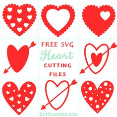 Free SVG Cutting Files - 10 Heart Designs