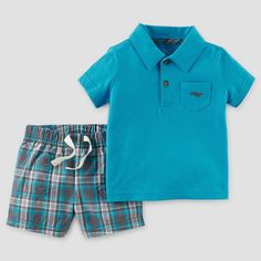 Cute easter dresses for girls pretty pastel frill shorts and frocks toddler boys 2pc plaid polo set blue 2t just one you made by carters negle Choice Image