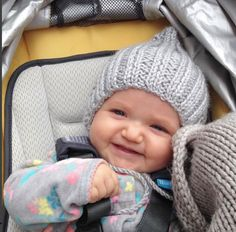 Items similar to Knitted Pixie Baby Bonnet on Etsy