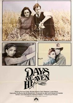 "Days of Heaven (1978) Vintage One Sheet Movie Poster - 27""x41"" #FilmSchools"