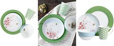 Clinton Kelly Effortless Table Spring Fever 4-Piece Place Setting