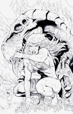Jungle Girl: Cover 5 INKS by boysicat
