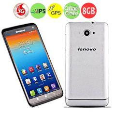 Lenovo S930 Quad Core 3G Smartphone w/ MTK6582 6.0 Inch HD IPS Screen 1GB+8GB Dual SIM GPS - Silver
