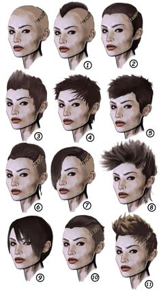 "Cool refs for cyberpunk hairstyle.  vermillionskiesabove:  corsairlafitte:  And finally some more Cyberpunk fashion!  Sorry guys, I forget about things a lot. So hair cuts!  Traditionally a girl's haircut in cyberpunk is a mess, undercut mohawk.  It's a good look, and I have a couple up there at the top, but it's a bit too limiting.  Way too much of female fashion in cyberpunk is ""male, but more masculine than the guys"".  Here I've included a bit more variety I've found.  Some of them are…"