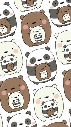 oodon - Gudetama x We Bare Bears Wallpaper Cute Panda Wallpaper, Cartoon Wallpaper Iphone, Bear Wallpaper, Cute Disney Wallpaper, Kawaii Wallpaper, Cute Wallpaper Backgrounds, Disney Phone Backgrounds, We Bare Bears Wallpapers, Panda Wallpapers