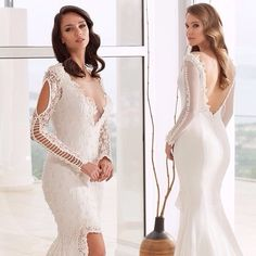 This is a very unique long sleeve wedding dress.The cut outs on the sleeve give it a totally different #fashion statement than the traditional wedding dress.  Our firm can recreate this haute couture bridal gown but at a price that you can afford. Custom #weddingdresses and replicas are offered at www.dariuscordell.com