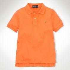Polo by Ralph Lauren - SS Cotton Interlock Collar Shirt - Summer Coral - $29.50 - size:  6 https://shop.youngideasms.com/store/p119/Polo_by_Ralph_Lauren_Childrenswear.html