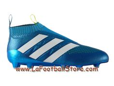 Adidas Homme Football Chaussures ACE 16+ Purecontrol Primeknit Terrain souple Shock Blue