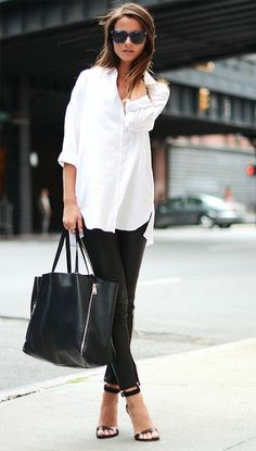 This Is A Classic Outfit! Basic Black & White.