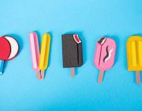 Retro Ice Cream Menu Paper Craft