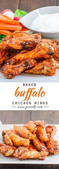 Buffalo Chicken Wings – baked not fried! And this recipe could not get any easier!