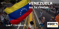 """VENEZUELA… NO TE RINDAS"" – www.atracoalpueblo.com – The Bosch's Blog"