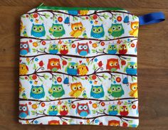 Owls makeup/toiletries bag by DeeliciousCrafts on Etsy