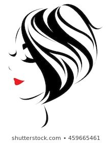 women short hair style icon, logo women face on white background, vector Pencil Art Drawings, Easy Drawings, Drawing Sketches, Face Stencils, Stencil Art, Fashion Sketch Template, Salon Art, Fashion Wall Art, Silhouette Art