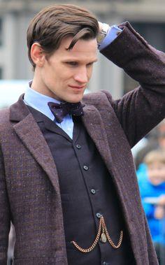 "Matt Smith. I like Peter Capaldi, but I miss my ""Beautiful Idiot"". ♥♥"