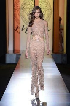 Which designer will you be wearing down the aisle? Versace Spring Summer 2013 Bridal