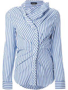 Isabel Marant Striped Gathered Shirt - Luisa World - Farfetch.com 291