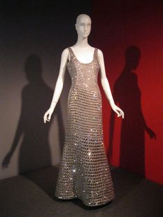 Armani Privé evening gown. Silver silk, Diamond Leaf Swarovski crystals. Fall 2007